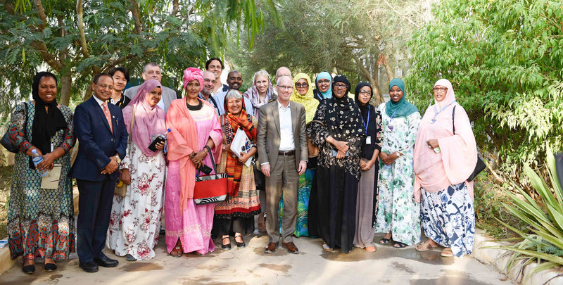 The UN envoy to Somalia, James Swan, in a group photo with women leaders during a working a visit to Hargeisa, Somaliland on 27 July 2019. UN Photo/ Abdikarim Mohamed
