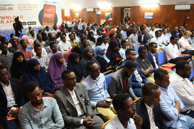 Participants attending the event included tech innovators, developers, government officials, entrepreneurs working in technology, and officials from donor and development agencies. UN Photo / Ilyas Ahmed
