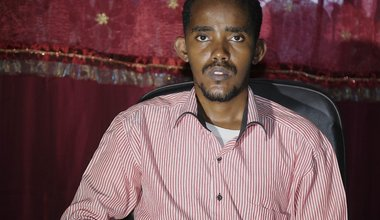 Khadar Ahmed Abdulle is Vice Chairman of Hiiraan Youth Organization, based in Belet Weyne.