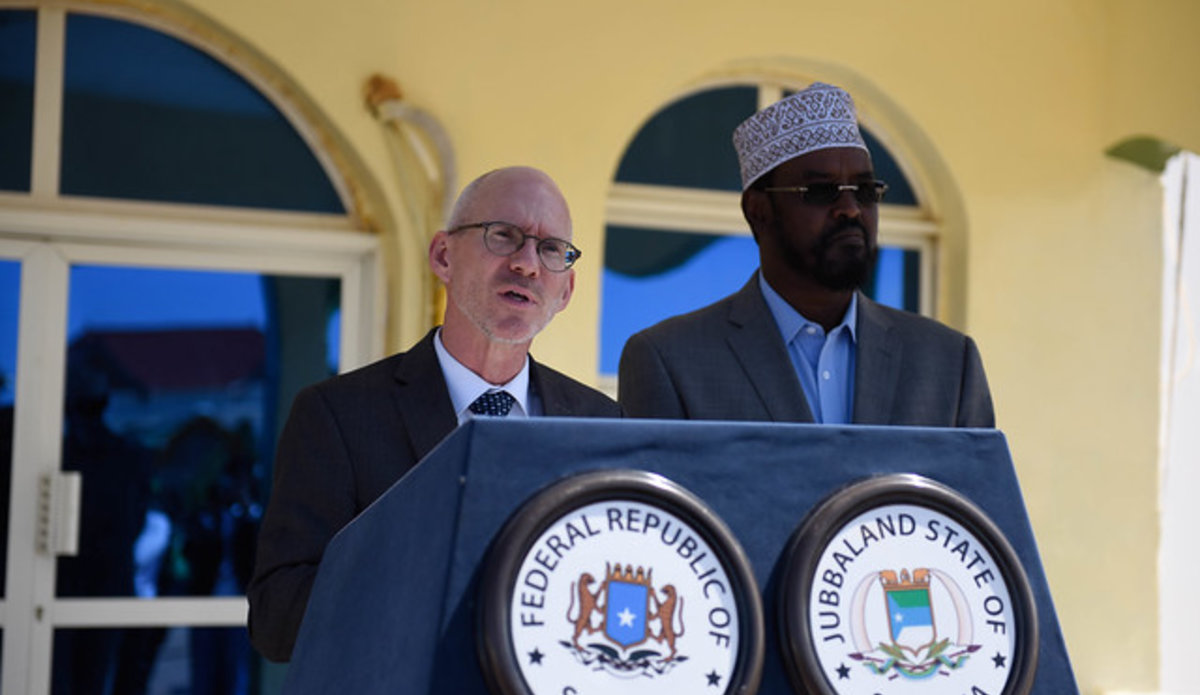 SRSG James Swan's Statement at Press Stake-Out in Kismayo