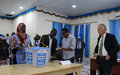 SRSG Keating observes voting in Baidoa, terms electoral process orderly and well organized