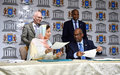 Somalia and UN sign accord to strengthen efforts to preserve culture and improve education