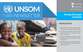 UNSOM Quarterly Newsletter, Issue 17, December 2020