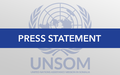 Statement attributable to UN Special Representative to Somalia Nicholas Kay
