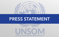 UN Special Representative James Swan speaks to the press during visit to Hargeisa