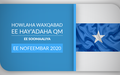 Howlaha waxqabad ee hay'adaha QM ee Soomaaliya ee Nofeembar 2020