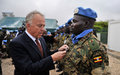 Battalion of Ugandan UN soldiers in Somalia feted for distinguished service