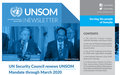 UNSOM QUARTERLY NEWSLETTER