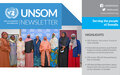 UNSOM Quarterly Newsletter, Issue 20, September 2021