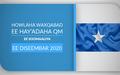 Howlaha waxqabad ee hay-adaha QM ee Soomaaliya ee Diseembar 2020